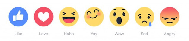 Types of Facebook Reactions