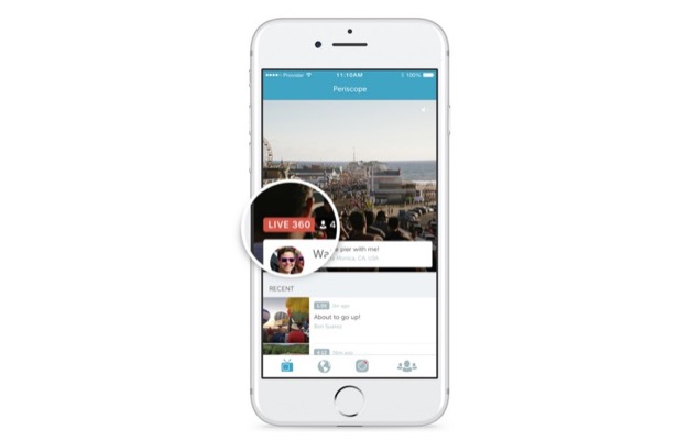 Periscope live 360 video badge