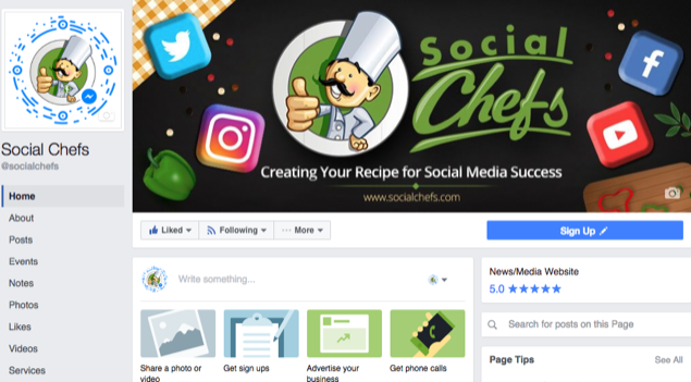 Social Chefs Facebook Page