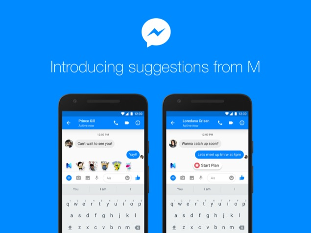 Suggestions from M in Messenger