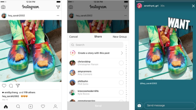 Share feed posts to Instagram Stories
