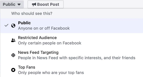Facebook top fan targeting for Pages